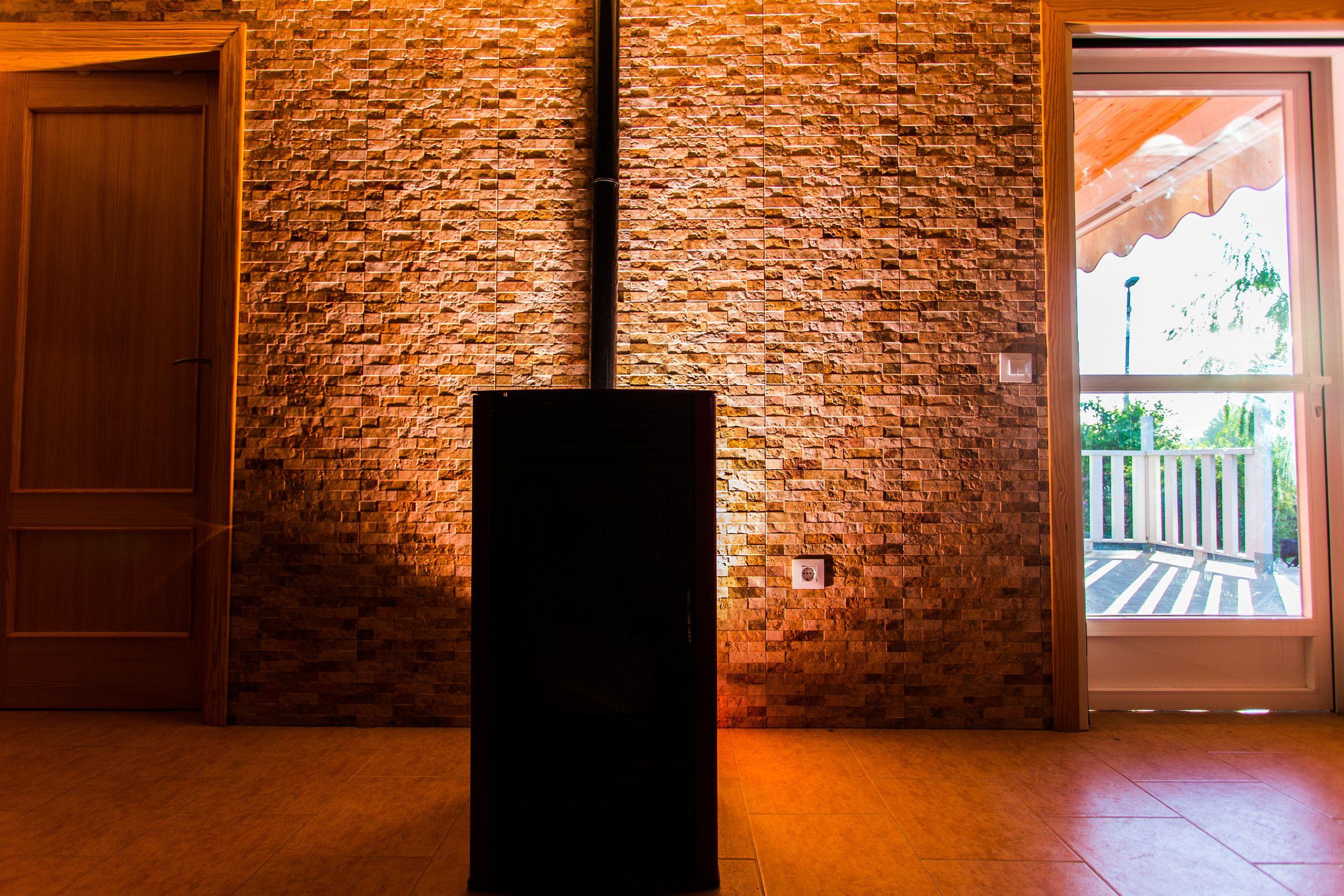 Estufas de pellets para su casa de madera madercas - Estufas para casa ...