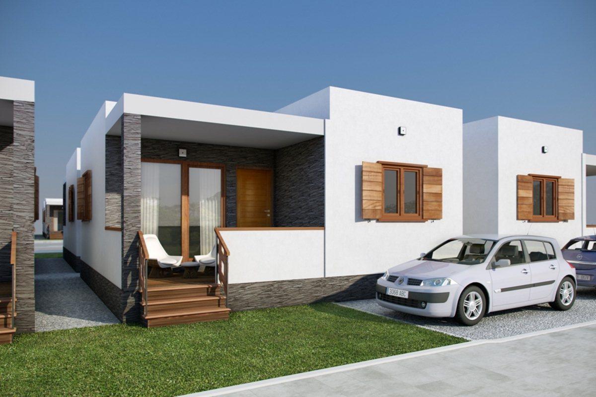 Casas de madera estilo cubo maderc s madercas - Tipos de tejados para casas ...