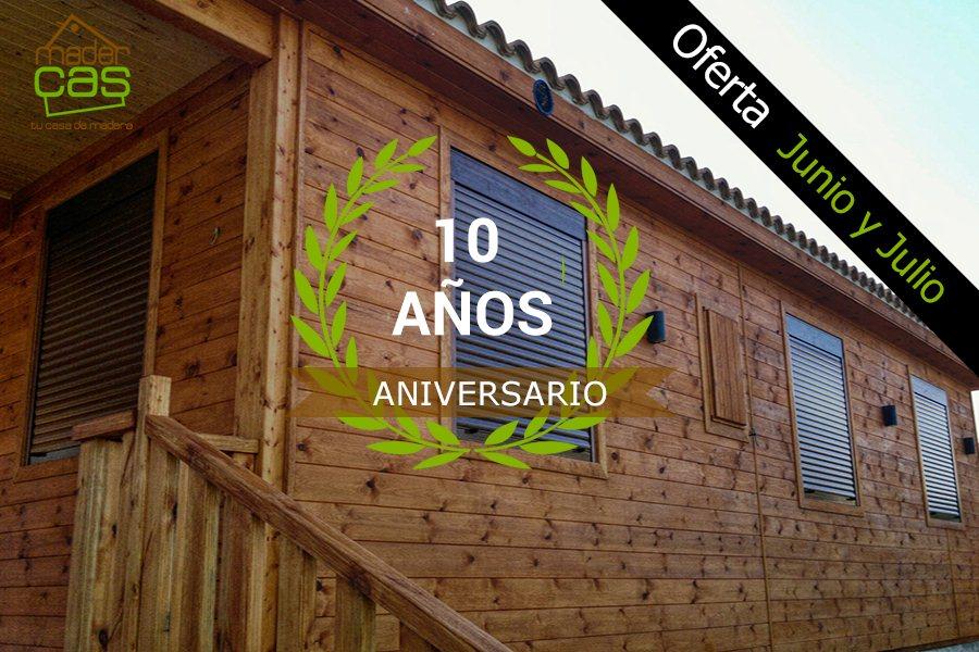 oferta especial casa de madera 10 Aniversario 80 m2