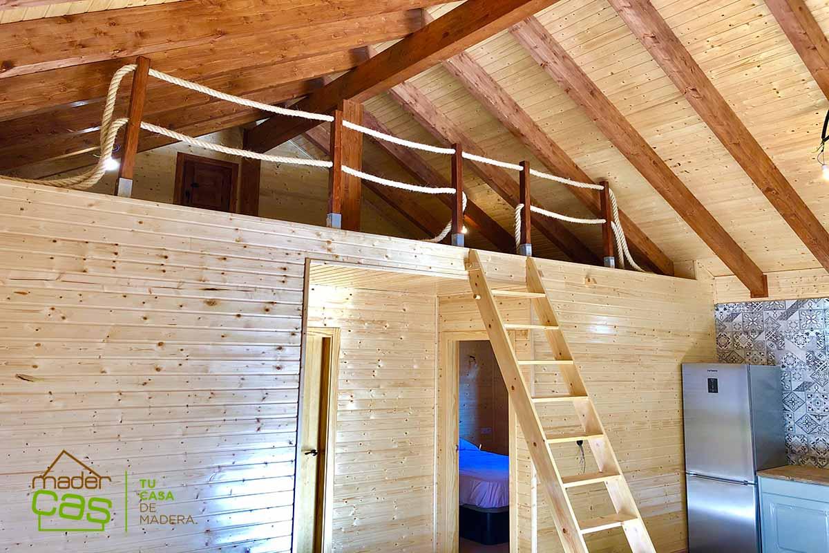 Casa de madera 53 m2 más buhardilla